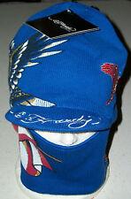 Ed Hardy Snow hat cap Ski Board winter face mask United States USA Xmas blue U.S