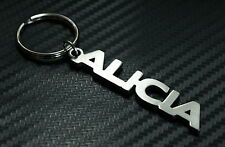 ALICIA Personalised Name Keyring Keychain Key Fob Bespoke Stainless Steel Gift