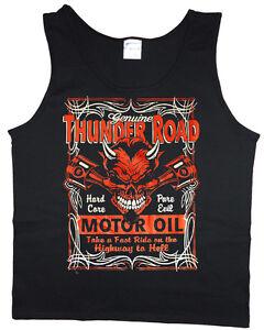 Mens tank top Biker automotive mechanic decal design muscle tee sleeveless shirt