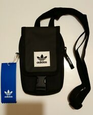 adidas Originals Small Pouch Bag New with Tags £20 Black Shoulder Neck Festival