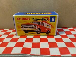 Matchbox Superfast No6 Ford Pick Up  EMPTY Reproduction Box Only  NO CAR