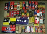 59 lot VINTAGE radio tv VACUUM TUBE electronics GE SYLVANIA TUNGSOL PHILCO CBS