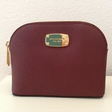 Michael Kors NWT Travel Leather Pouch Cindy Merlot