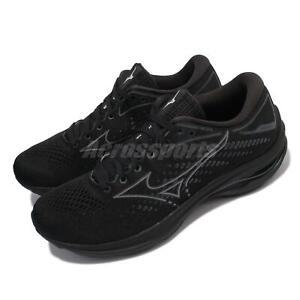 Mizuno Wave Rider 25 Black Grey Men Running Marathon Sports Shoes J1GC2103-35