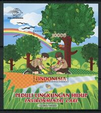 Indonesia 2017 MNH Environmental Care Scouting Scouts 1v M/S Trees Nature Stamps