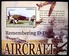 LIBERIA D-DAY AIRCRAFT STAMPS SOUVENIR SHEET 2004 MNH WWII TEMPEST V AIRPLANE