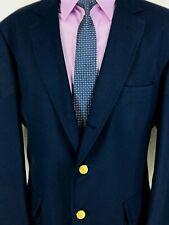 44* Orvis Mens Vintage 3 Button Blazer Sport Coat Dark Navy USA Exc