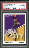 2019 Hoops NBA City Pop 14🔥 #27 Lebron James Los Angeles Lakers PSA 10 GEM MINT
