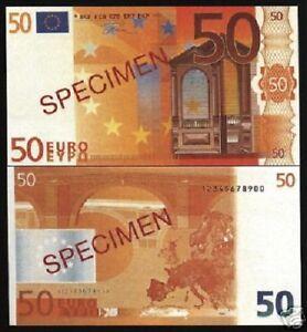 EURO 50 EUROS SPECIMEN OVERPRINT UNIQUE COLLECTOR SOUVENIR FUN MONEY BILL NOTE