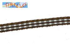 MERCERIA - 6 metri nastro sintetico animato 6 mm - Quadretti marrone