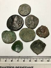 x8 Byzantine 1,500 years old coins, some depicting Christ: Unidentified (B380)