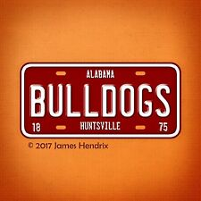 Alabama A&M University Bulldogs NCAA  License Plate Vanity Auto Tag