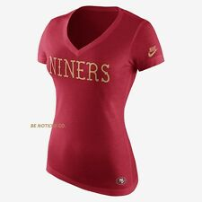 Nike Women's Tri-Blend Local DNA NFL 49ers T-Shirt M Red Gold Gym Casual New