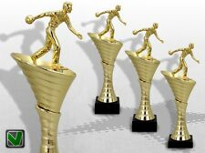 Bowling Pokale 3er Pokalserie OLYMP Bowling mit Gravur günstige Pokale kaufen