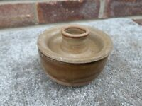 vintage old cermaic candle holder with pot underneath retro 1970s look