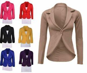 Women Long Slevee Winter SILM Jacket Up Biker Flight Top Coat Outwear