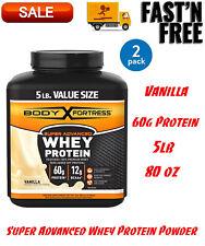 (2 Pack) Super Advanced Whey Protein Powder, Vanilla, 60g Protein, 5lb, 80oz