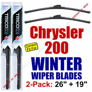 WINTER Wiper Blades 2Pk Super-Premium fit 2015+ Chrysler 200 - 35260/35190