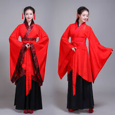 Chinese Ancient Han Fu Dress Women Stage Dance Costume Performance Cosplay