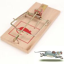 6x SPRING LOADED SNAP KILL TRAP Poison Free Mouse Rat Pest Control Indoor Rodent