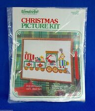 11 x 14 Christmas Express Picture Stitchery Stamped Embroidery Kit Santa Train