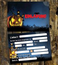 12 Halloween Einladungskarten, Grusel Party, Kindergeburtstag Halloween