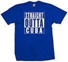 Straight Outta Cuba T-Shirt - Cuban Pride Cubano Castro Flag Parody - All Colors