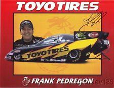 2006 Frank Pedregon signed Toyo Tires Dodge Stratus Funny Car NHRA postcard
