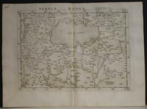 IRAN SAUDI ARABIA  CENTRAL ASIA 1564 PTOLEMY & RUSCELLI SCARCE ANTIQUE MAP
