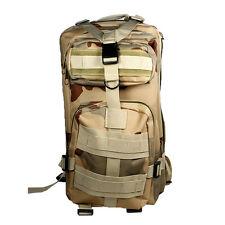 Sand Camo 30L Military Tactical Multicam Backpack Rucksack Hiking Trekking Bag