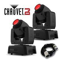 2x Chauvet INTIMIDATOR Spot 110 LED DMX DJ discoteca effetto di illuminazione testa mobile