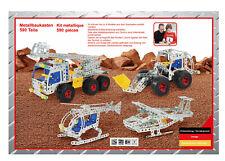 Tronico Metallbaukasten Einsteiger 4-in-1 Starter 590 Teile Bausatz 8+