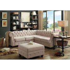 Chesterfield Couch Polster Sofas Klassischer Textil Schaffhau Ecksofa - 340