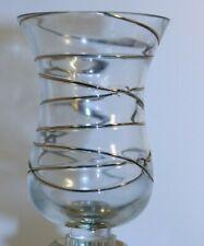 New PartyLite Calypso Gold Peglight Handblown Glass 24K Trim Candle Holder & Box