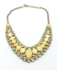 Vintage juliana moonglow & rhinestones necklace bib Gorgeous!