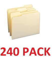 SMEAD 11928 Office File Folders 1/3 Cut Assorted One-Ply Top Tab Letter (240-PK)