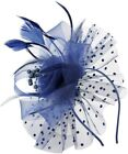 Fascinator Hats For Women Flower Feathers Clip For Women Cocktail Party Hats