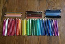 LOT of 100  Conte, Caran d'Ache, Faber Castell, Staedtler Colored Pencils