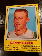 1969 Transogram Baseball card vintage Danny Cater hand cut blank back rare