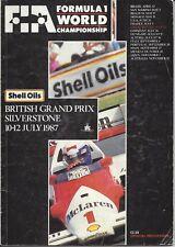 F1 British Grand Prix Silverstone 1987 Programme
