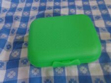 Tupperware® NEW Green Packable Oyster Snack Container Keeper Reusable