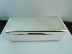 QUIRKY ENGLISH STERLING SILVER COVERTED CIGAR BOX / MUSIC BOX