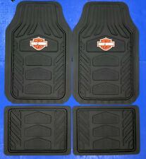Harley Davidson Weather Pro Rubber Floor Mats Logo 4 Pcs Set Truck Car SUV