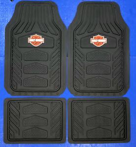 Harley Davidson Weather Pro Rubber Floor Mats Logo 4 Pcs Set Truck Car SUV