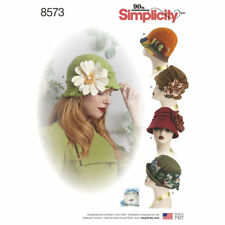 S8573 Sewing Pattern 5 Hats Cloche Retro 1920 1930  Vintage Look SM-LG 21-23""