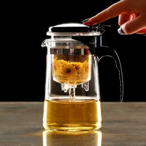 Tea Kettle Glass Teapot Tea Maker Infuser Filter Strainer Pot Heat Resistant