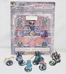 Mage Knight Dungeons Builder KIt & 6 figure lot (D&D, Pathfinder, Miniature)
