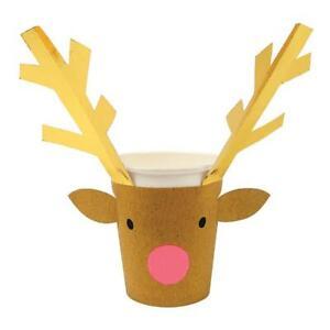 MERI MERI CHRISTMAS Reindeer Party Cups (8 Pack)