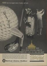 1962 U.S. Royal PRINT AD Queen Royal Women's Vintage Golf Ball & Bags, Clubs
