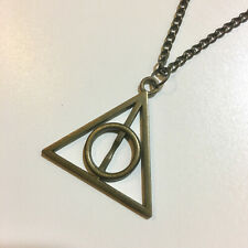 NEW Bronze Harry Potter Deathly Hallows Charm Pendant Chain Neckace